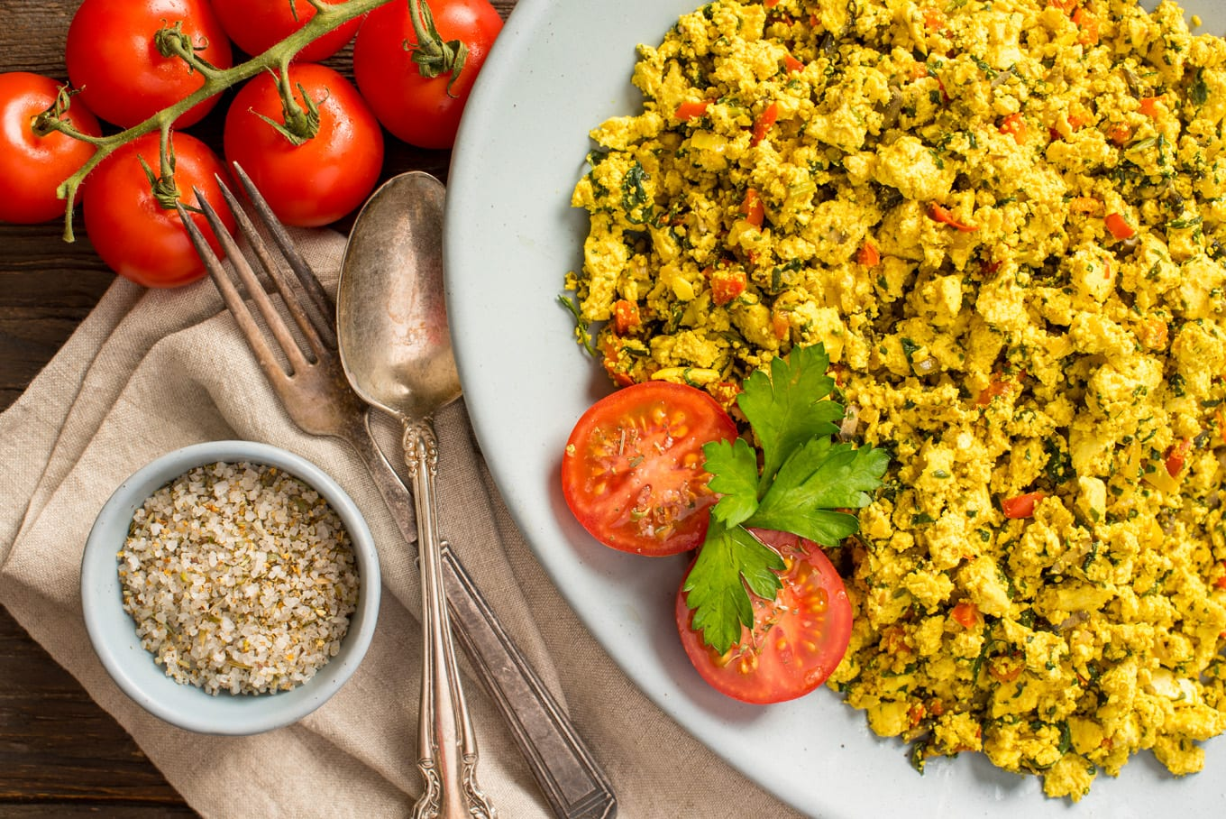 Tofu scramble on plate
