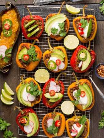 Mexican inspired stuffed peppers