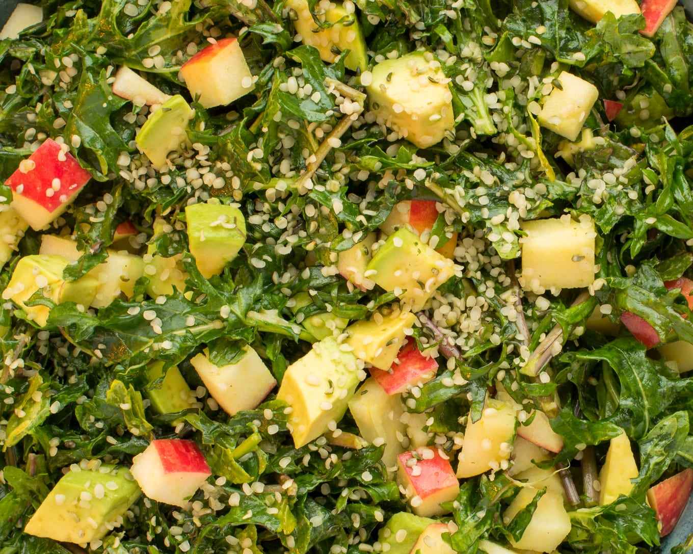close up photo of kale salad
