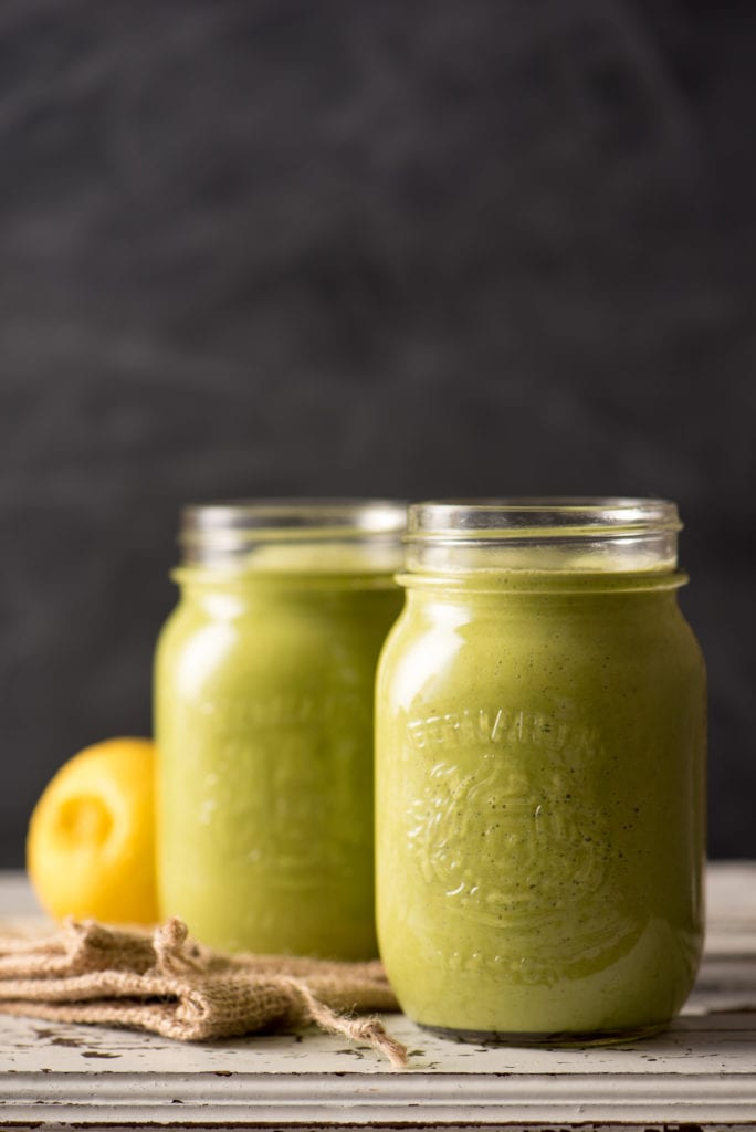 apple ginger smoothie in jars