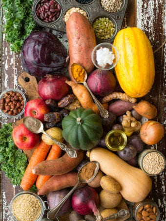 eating through the seasons: fall and winter vegetables grains and nuts