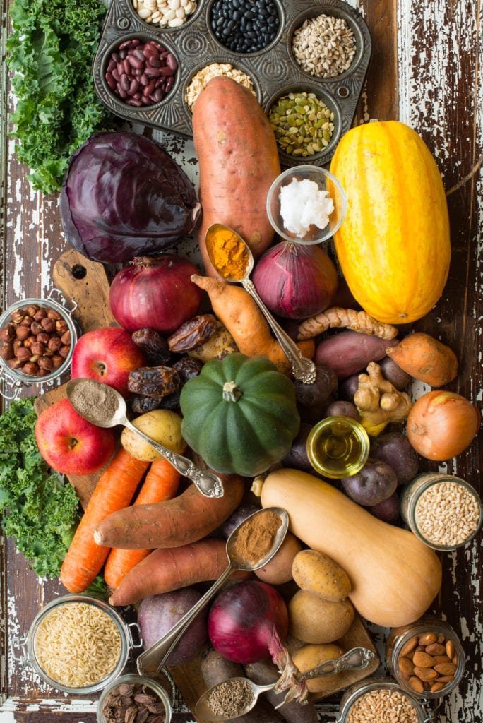 eating through the seasons: fall & winter vegetables grains and nuts