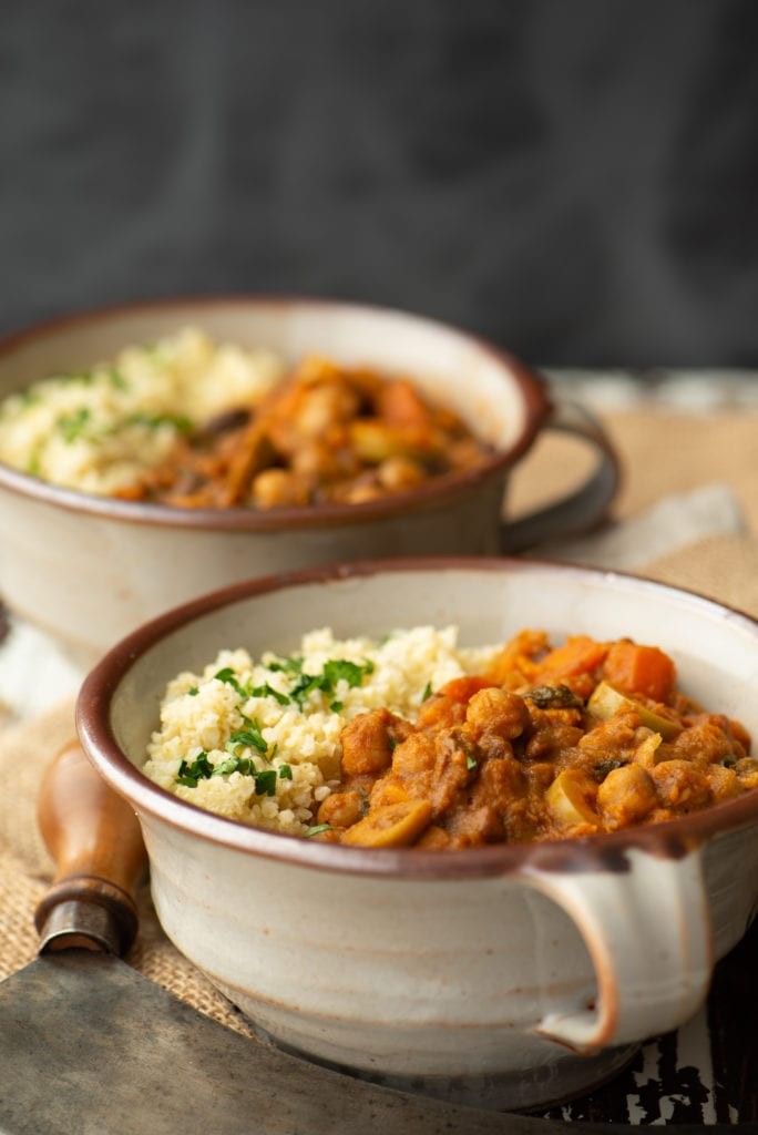 stew and quinoa in bowls