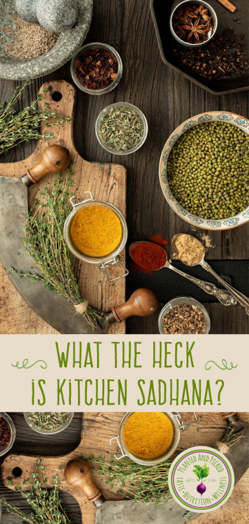 herbs spices and beans and kitchen utensil illustration for kitchen sadhana post - interest image