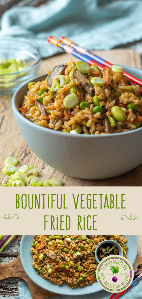 vegetable fried rice - pinterest image