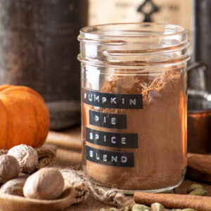 homemade pumpkin pie spice blend in jar