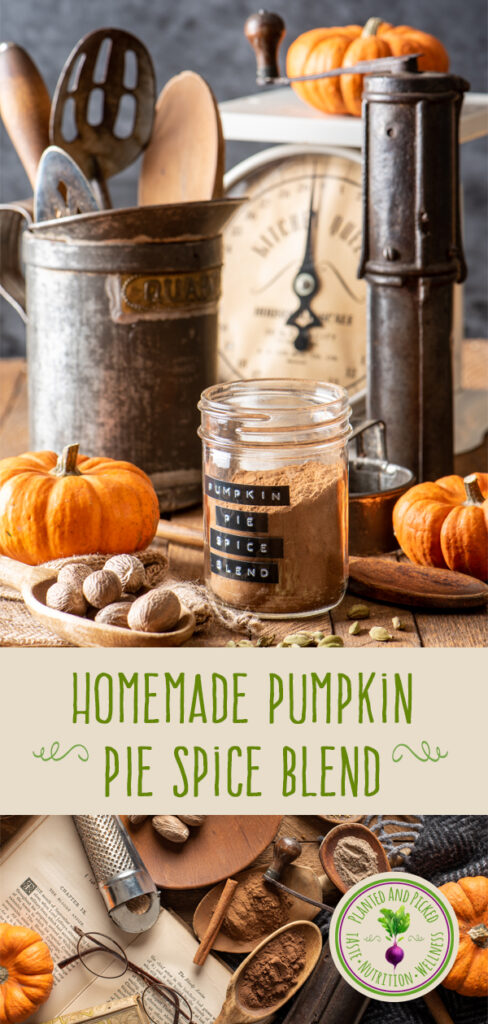 homemade pumpkin pie spice blend in jar - pinterest image
