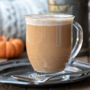 maple pumpkin spice latte in mug