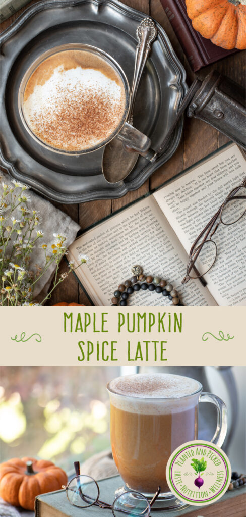 maple pumpkin spice latte - pinterest image