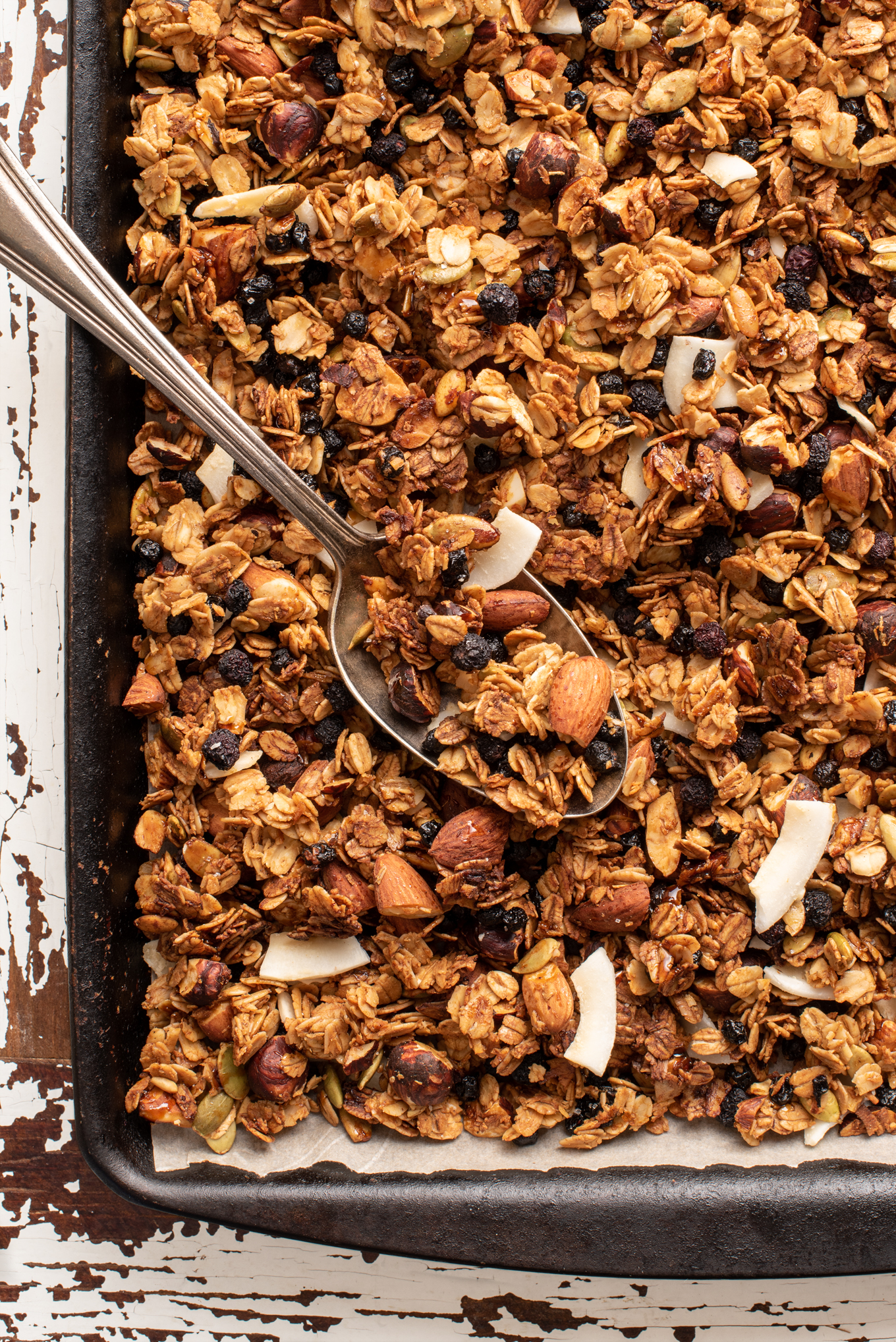 Coconut Blueberry Granola Recipe Planted And Picked