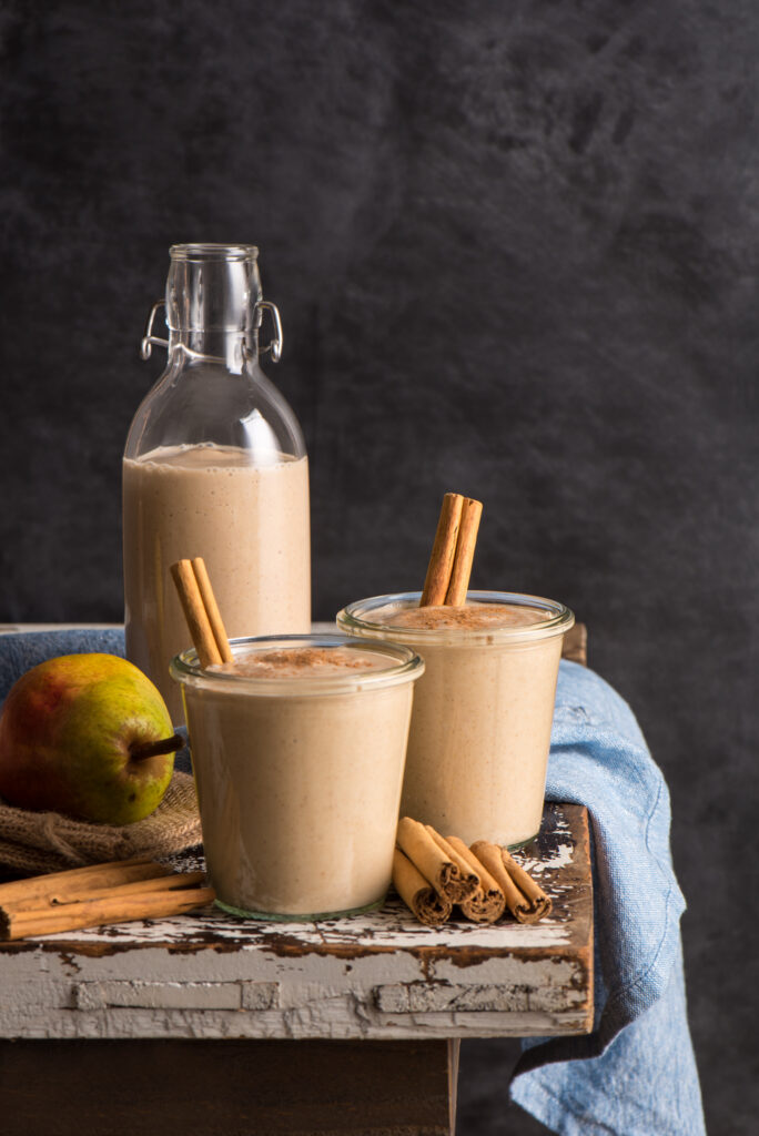 smoothie in jars and bottle