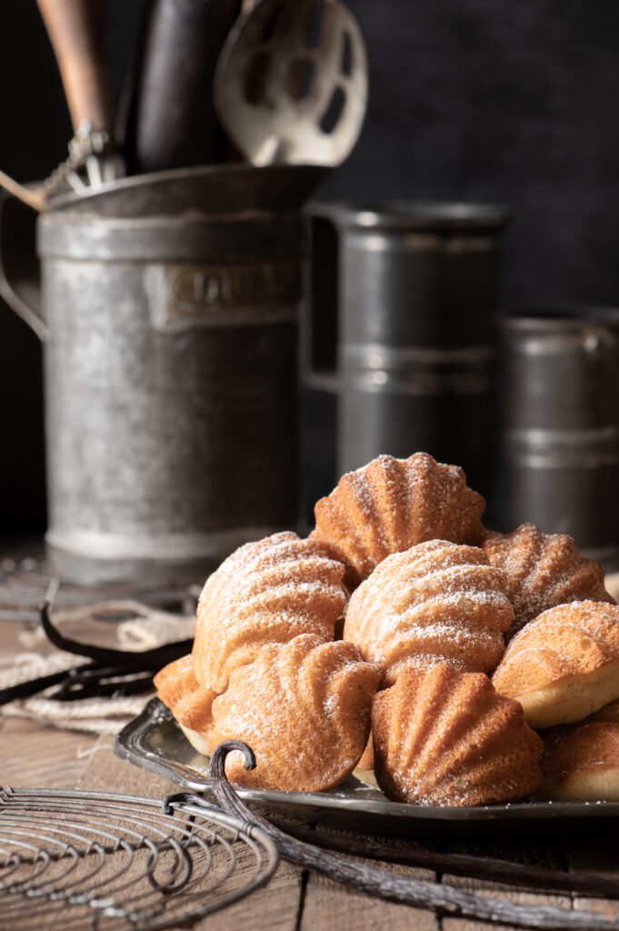 madeleines on serving plate