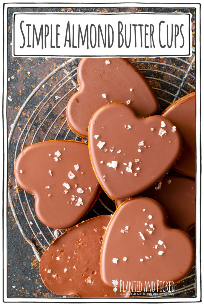 simple almond butter cups - pinterest image