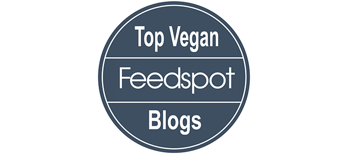feedspot top vegan blogs badge