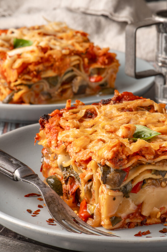 lasagne on two plates